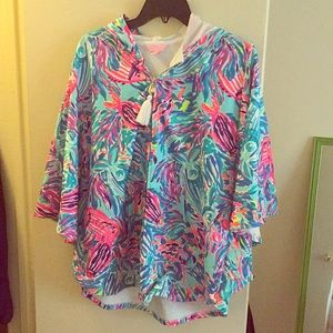 NWOT Lilly Pulitzer Sample Robbins Poncho Small